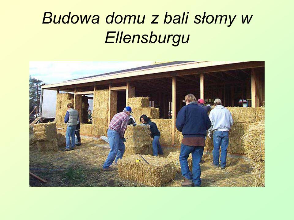 Budowa domu z bali słomy w Ellensburgu