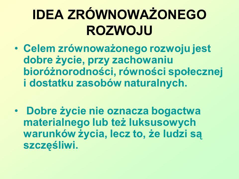 POLITYKA DLA ZRÓWNOWAŻONEGO ROZWOJU 1.