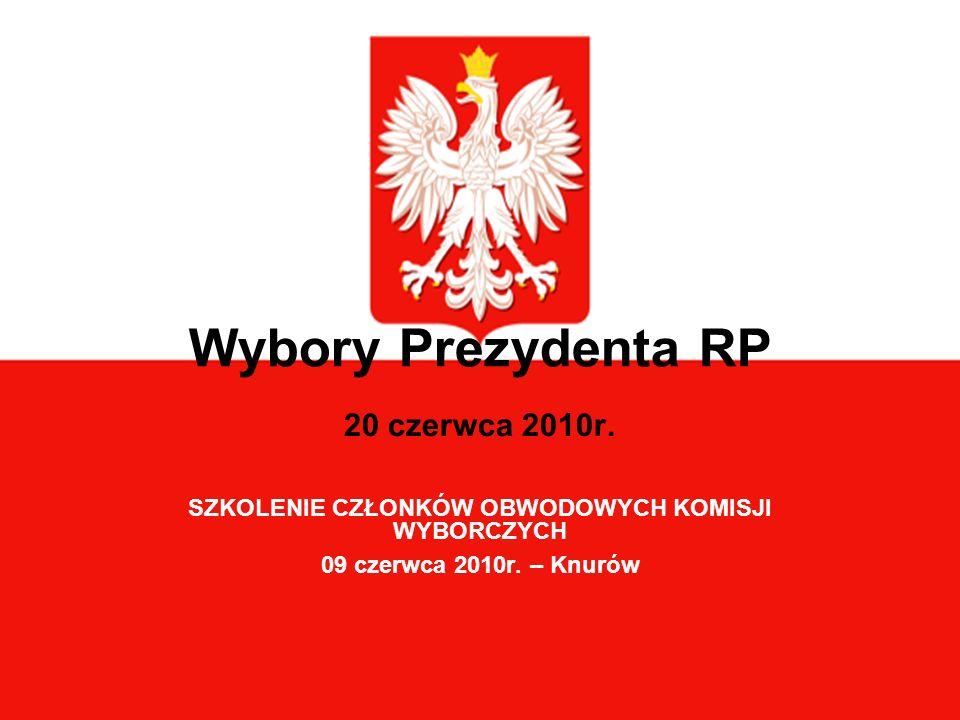 Wybory Prezydenta RP 20 czerwca 2010r.