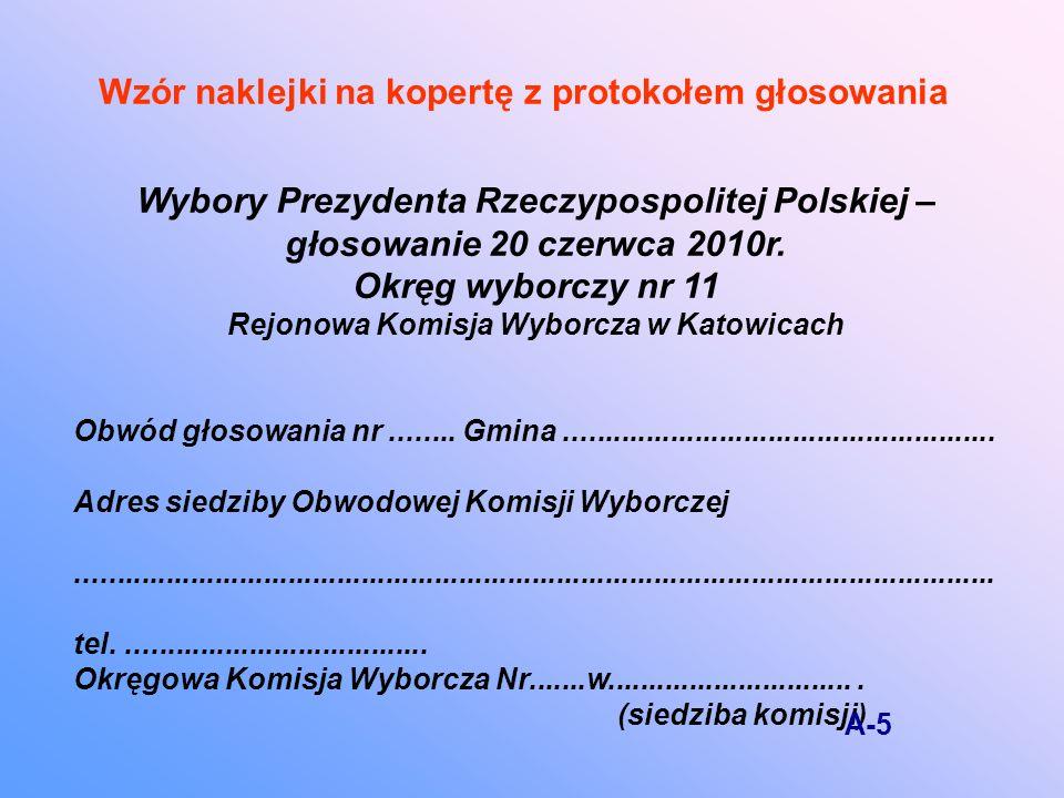 Wybory Prezydenta Rzeczypospolitej Polskiej – głosowanie 20 czerwca 2010r.