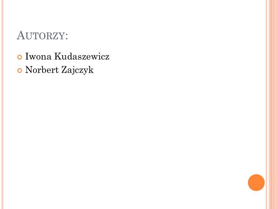 A UTORZY : Iwona Kudaszewicz Norbert Zajczyk