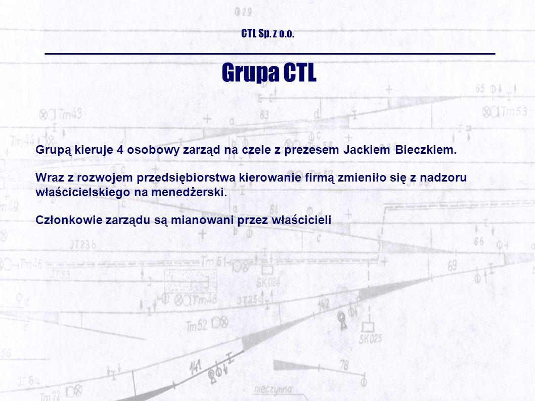 Grupa CTL Grupą kieruje 4 osobowy zarząd na czele z prezesem Jackiem Bieczkiem.