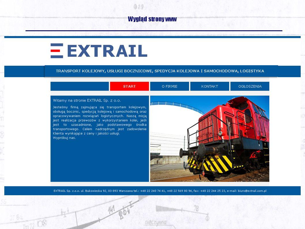Wygląd strony www
