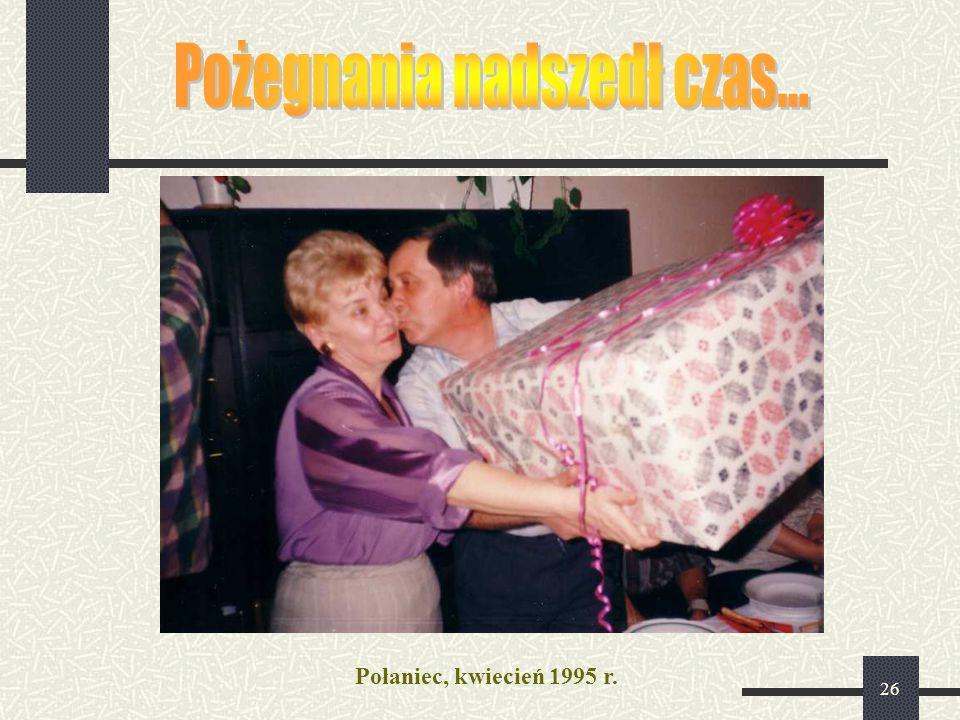 26 Połaniec, kwiecień 1995 r.