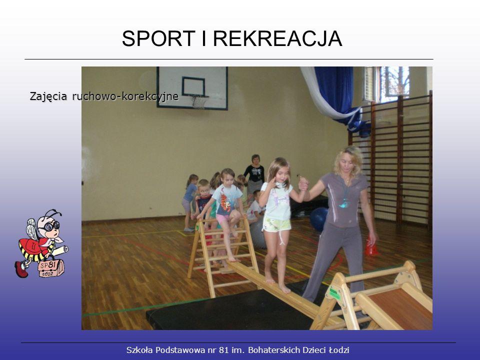 SPORT I REKREACJA Szkoła Podstawowa nr 81 im. Bohaterskich Dzieci Łodzi Zajęcia ruchowo-korekcyjne Zajęcia ruchowo-korekcyjne