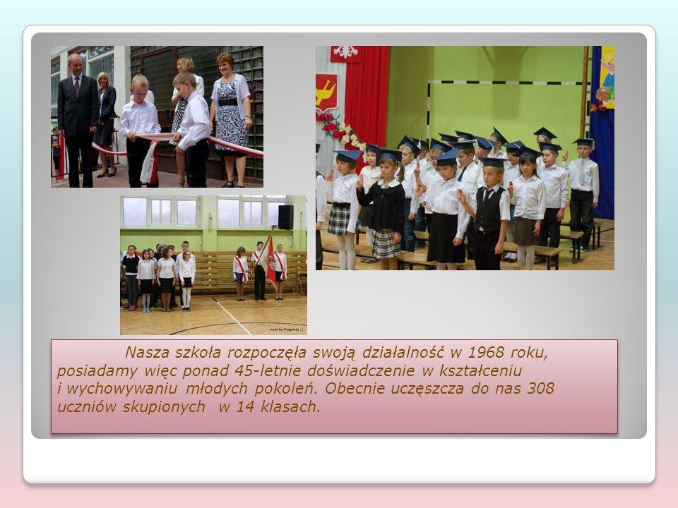 Nasza szkoła rozpoczęła swoją działalność w 1968 roku, posiadamy więc ponad 45-letnie doświadczenie w kształceniu i wychowywaniu młodych pokoleń. Obec