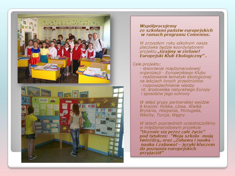 """Współpracujemy ze szkołami państw europejskich w ramach programu Comenius. W przyszłym roku szkolnym nasza placówka będzie koordynatorem projektu """"Gra"""