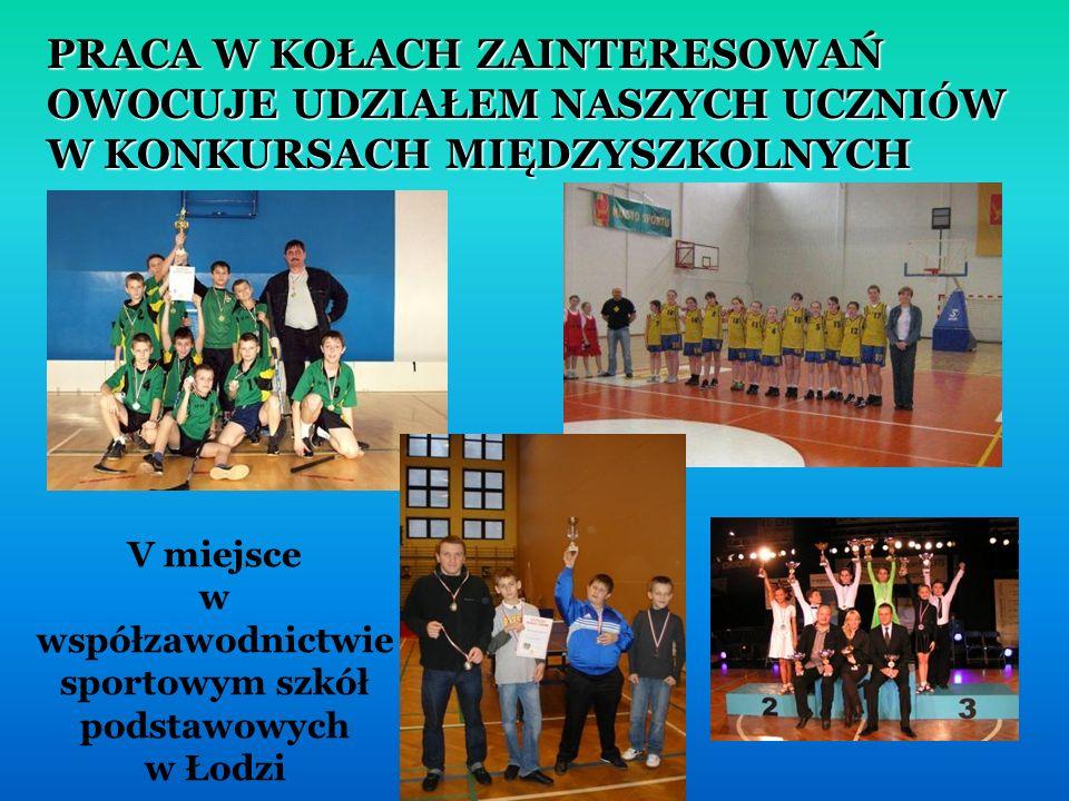 V miejsce w współzawodnictwie sportowym szkół podstawowych w Łodzi