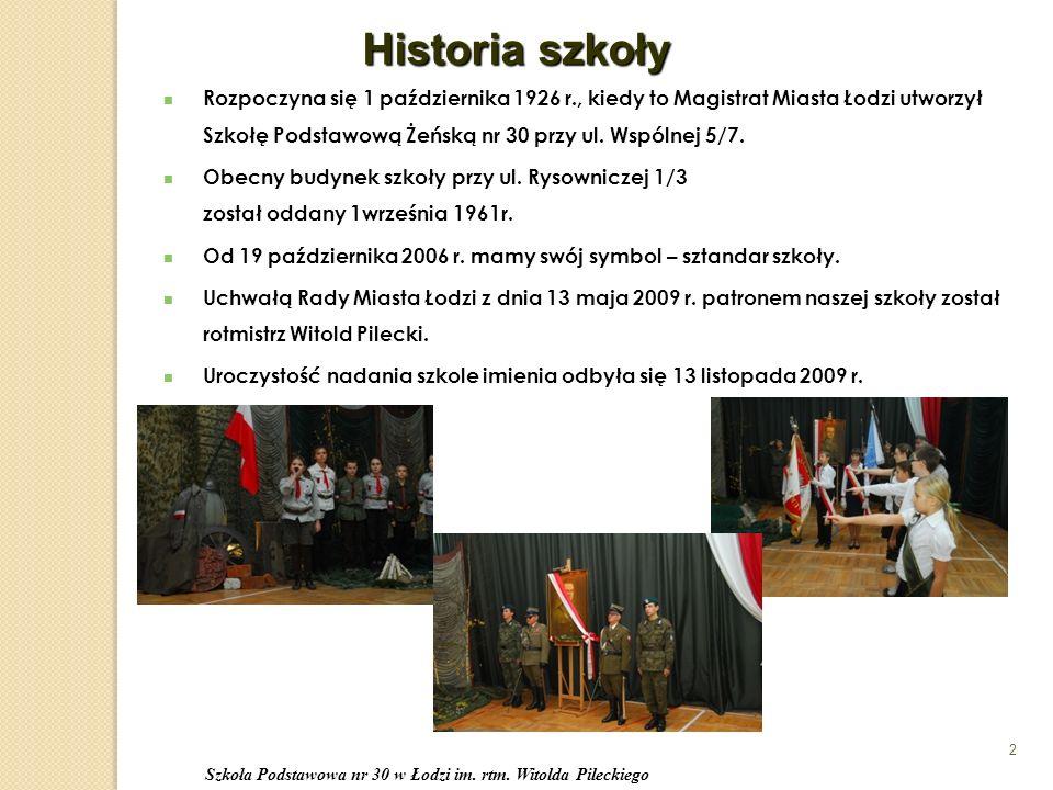 Rozpoczyna się 1 października 1926 r., kiedy to Magistrat Miasta Łodzi utworzył Szkołę Podstawową Żeńską nr 30 przy ul.
