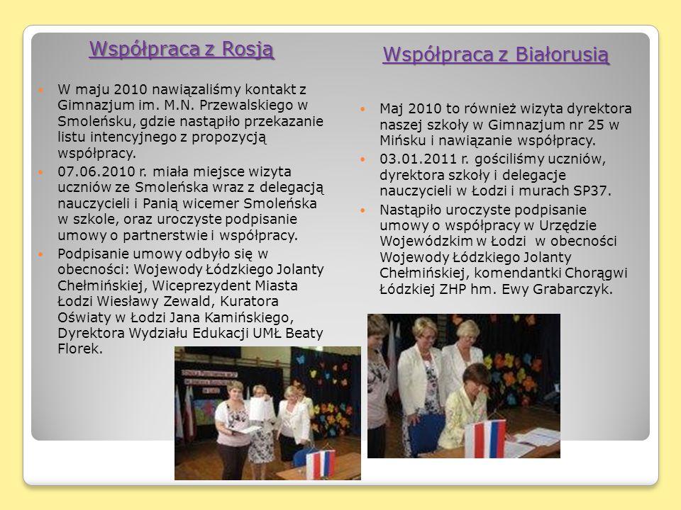Współpraca z Rosją W maju 2010 nawiązaliśmy kontakt z Gimnazjum im.