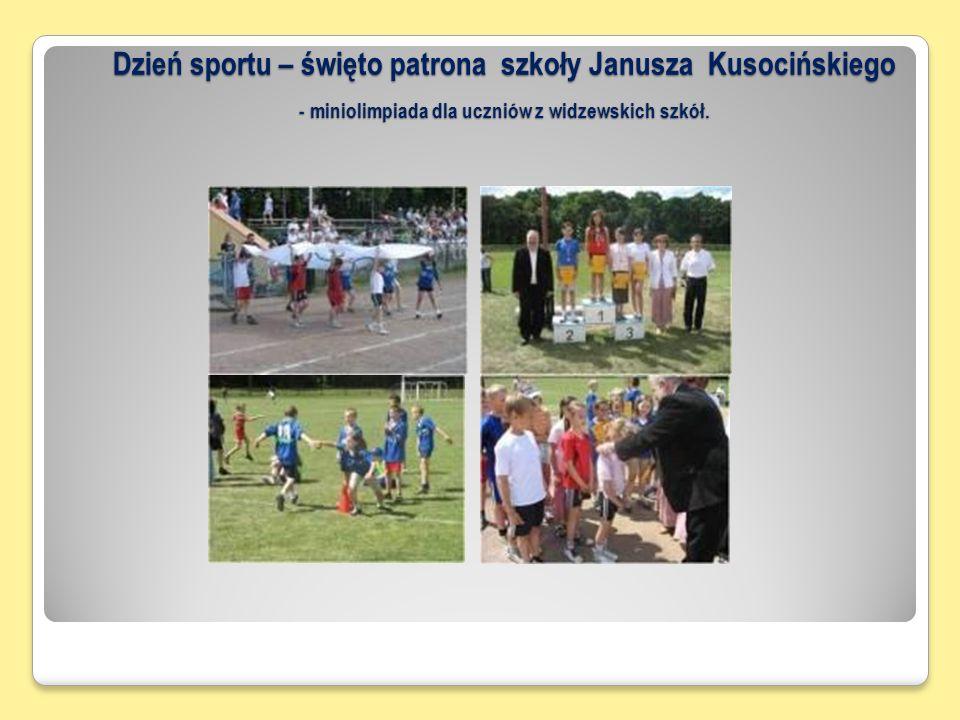 Dzień sportu – święto patrona szkoły Janusza Kusocińskiego - miniolimpiada dla uczniów z widzewskich szkół.