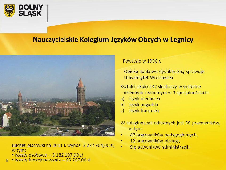 Nauczycielskie Kolegium Języków Obcych w Legnicy 6 Powstało w 1990 r.