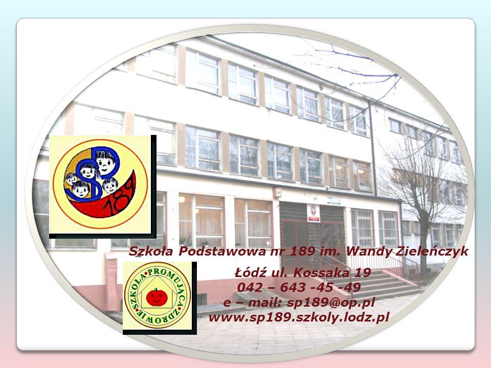 Szkoła Podstawowa nr 189 im. Wandy Zieleńczyk Łódź ul.