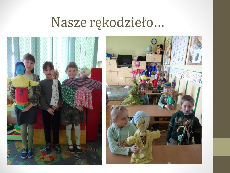 Bliźniacze Marzanny Laury i Szymona… Bliźniaki, jak zwykle nas zaskoczyły, projektując bliźniacze słomiane kukły:)))