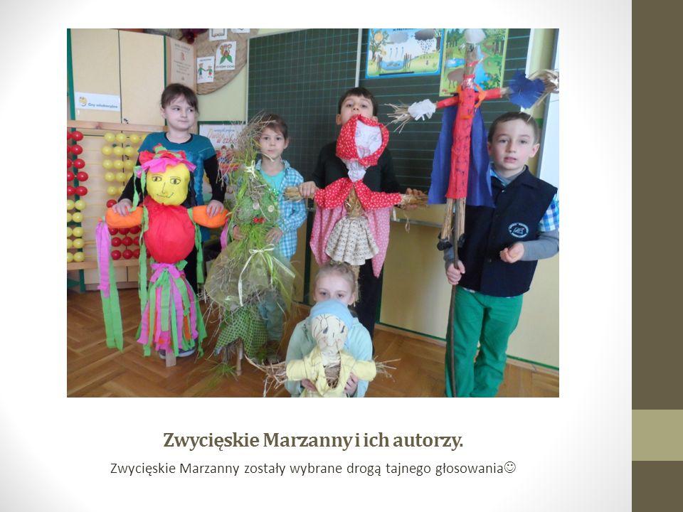 Zwycięskie Marzanny i ich autorzy. Zwycięskie Marzanny zostały wybrane drogą tajnego głosowania