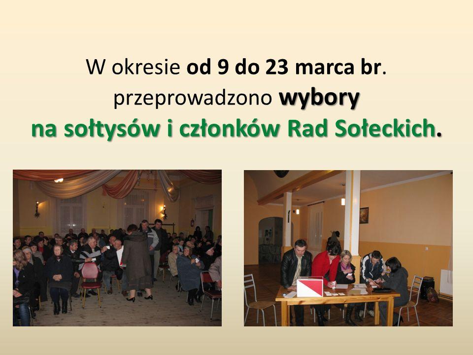 wybory na sołtysów i członków Rad Sołeckich. W okresie od 9 do 23 marca br. przeprowadzono wybory na sołtysów i członków Rad Sołeckich.