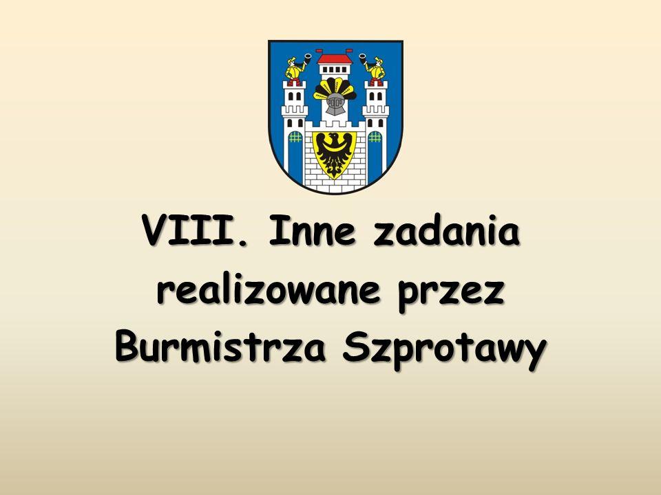 VIII. Inne zadania realizowane przez Burmistrza Szprotawy