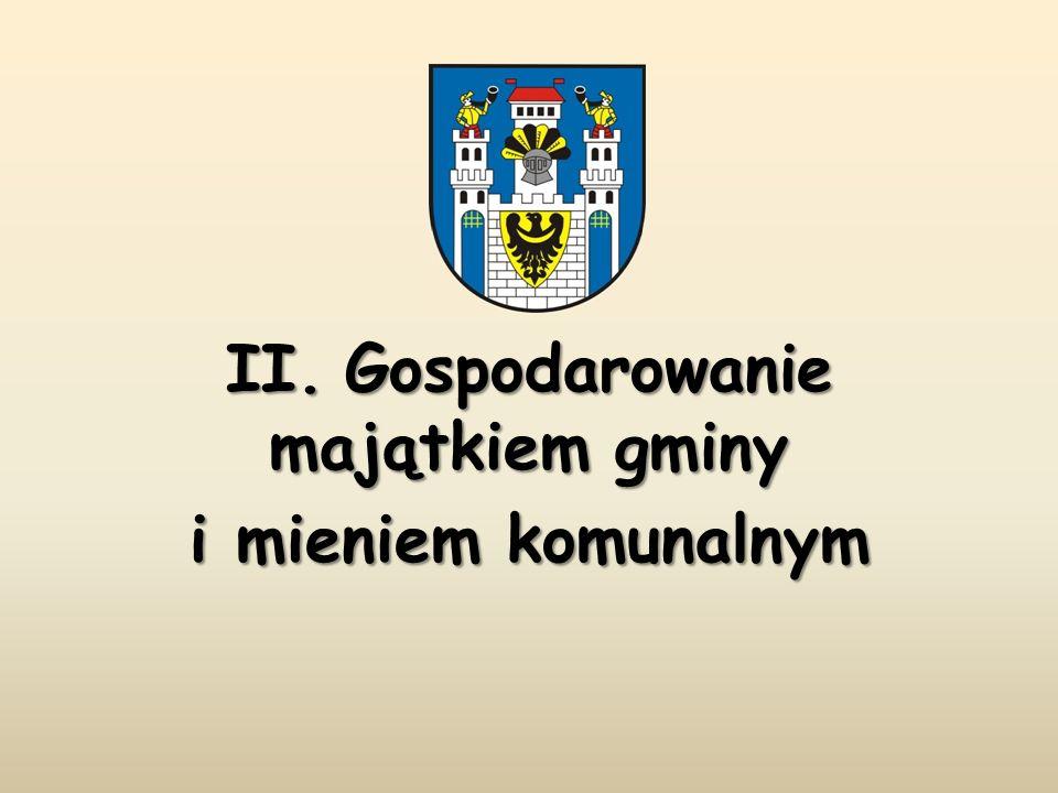 II. Gospodarowanie majątkiem gminy i mieniem komunalnym