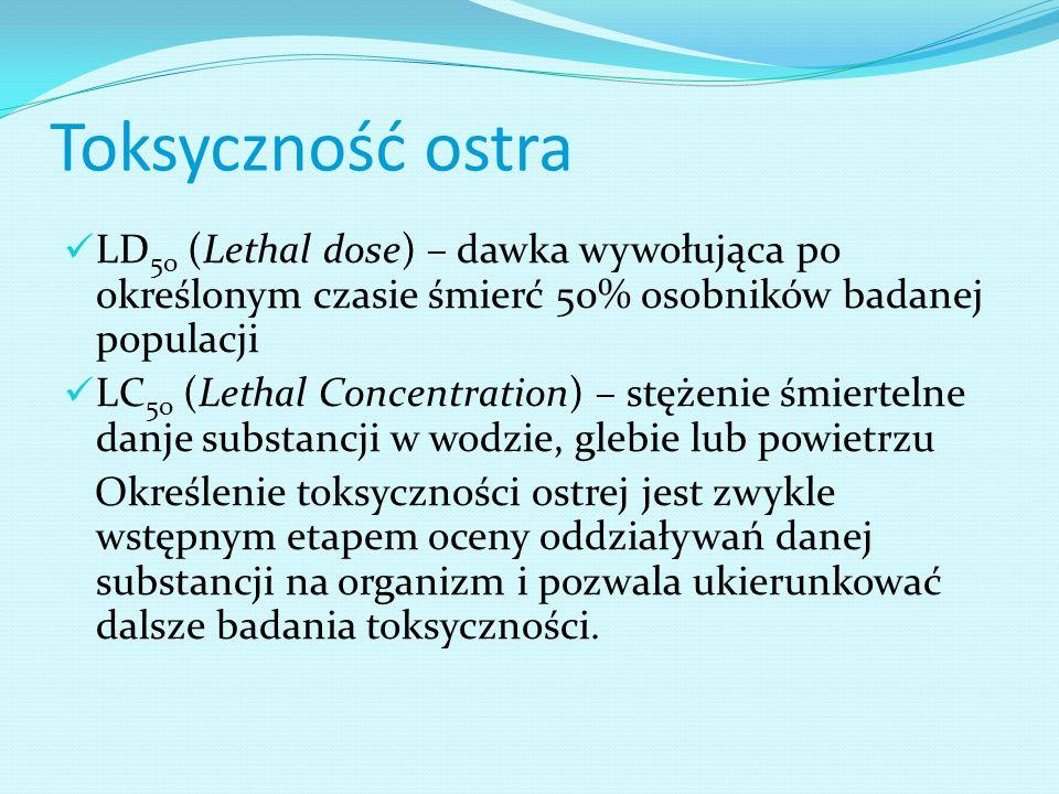 Czułość biotestu W <1 oznacza, że organizmy stosowane w tym pojedynczym bioteście charakteryzuje wysoka względna wrażliwość w stosunku do badanej substancji toksycznej.