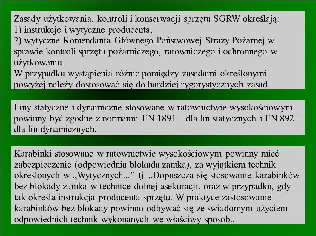 W przypadku działań łączonych ratownictwa wysokościowego z innymi rodzajami ratownictwa, należy zapewnić łączność pomiędzy dowodzącym SGRW, a kierującym działaniem ratowniczym (KDR).