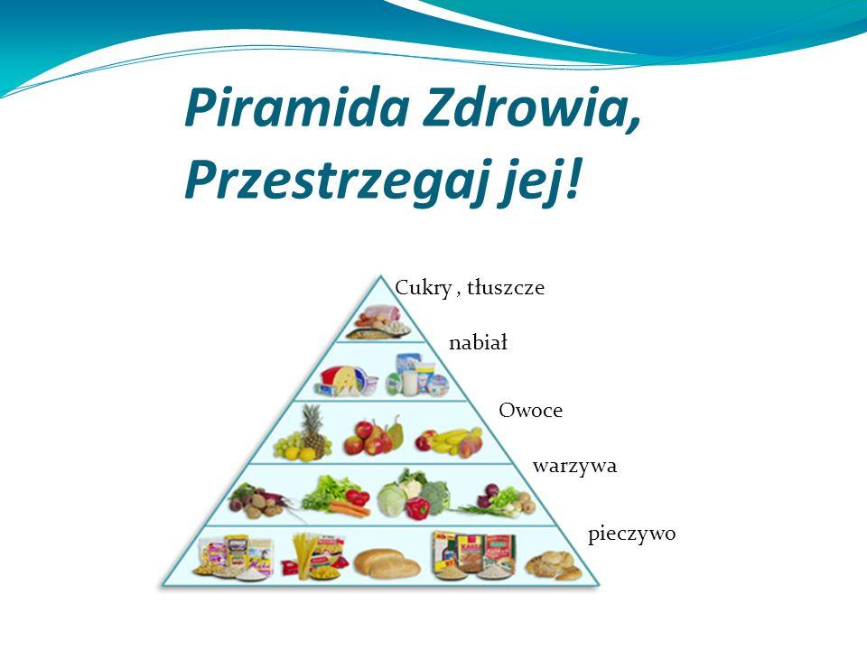Piramida Zdrowia, Przestrzegaj jej! Cukry, tłuszcze nabiał Owoce warzywa pieczywo