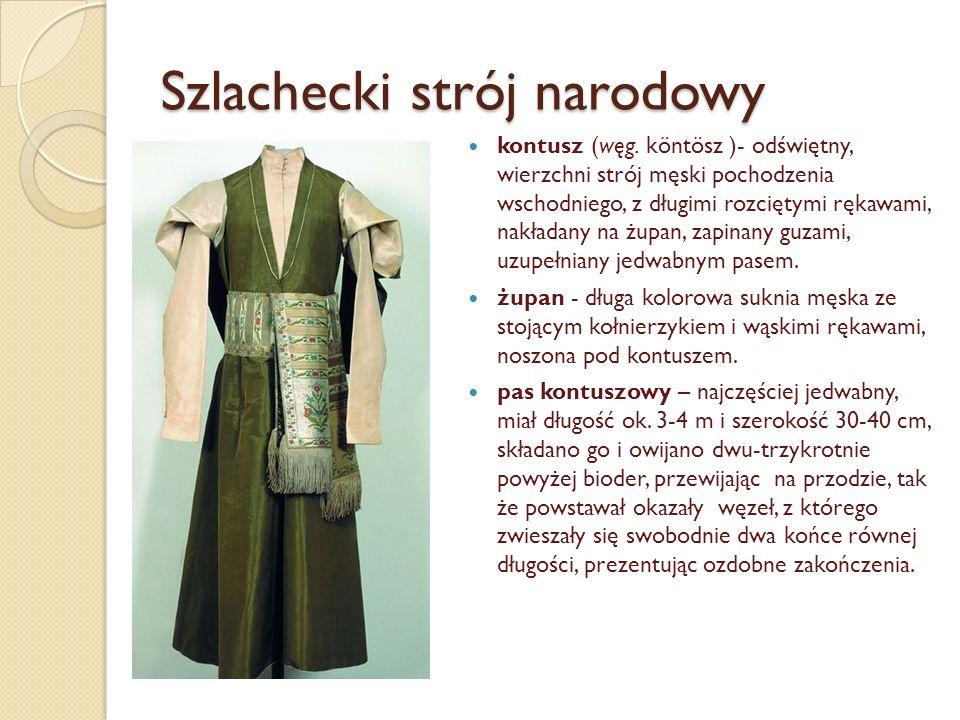 Szlachecki strój narodowy kontusz (węg.
