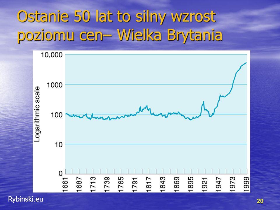 Rybinski.eu Ostanie 50 lat to silny wzrost poziomu cen– USA 21