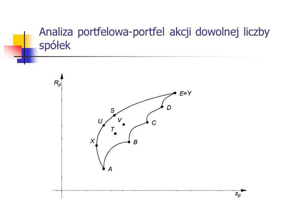 Analiza portfelowa-portfel akcji dowolnej liczby spółek