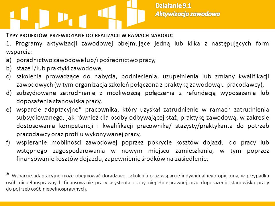 Kryteria oceny dla Działania 9.1 16 Kryteria formalne specyficzne 12 Kryteria premiujące (max.