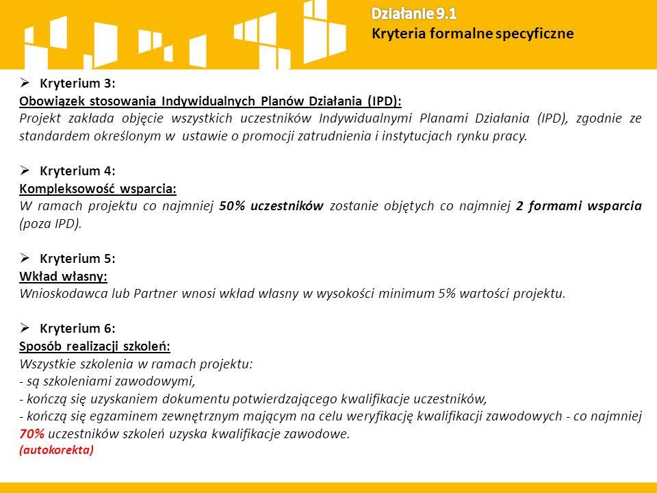  Kryterium 7: Sposób realizacji staży/ praktyk zawodowych: Założone w ramach projektu staże / praktyki zawodowe muszą być powiązane ze szkoleniami zawodowymi w ramach projektu, w których uczestniczył wybrany uczestnik projektu.
