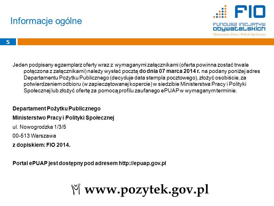 Termin rozpoczęcia zadania dla wszystkich typów projektów: od 1 czerwca 2014 r.