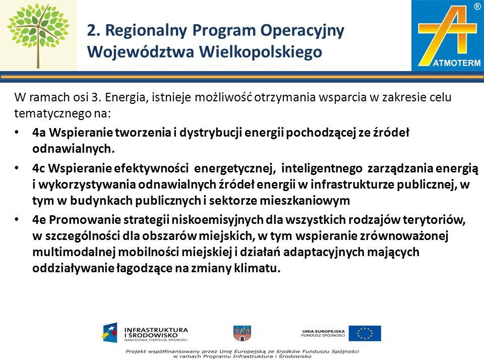 2. Regionalny Program Operacyjny Województwa Wielkopolskiego W ramach osi 3.