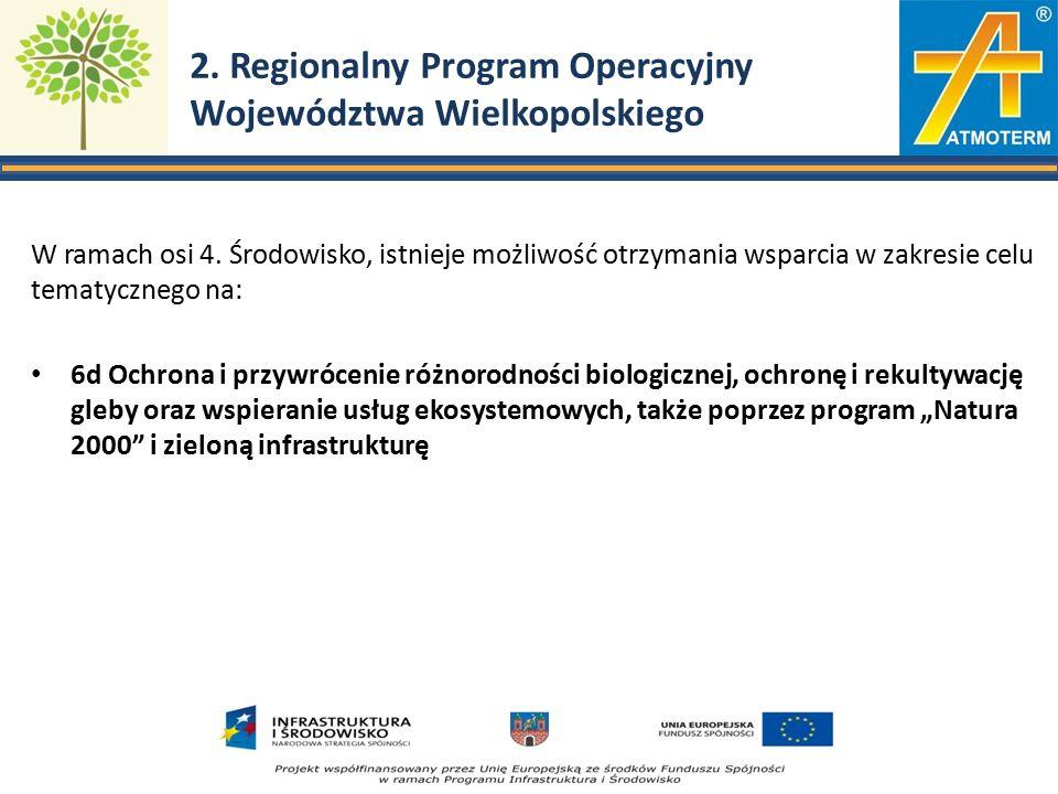 2.Regionalny Program Operacyjny Województwa Wielkopolskiego W ramach osi 4.