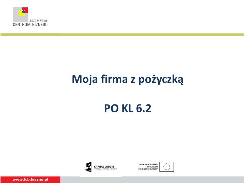 Moja firma z pożyczką PO KL 6.2