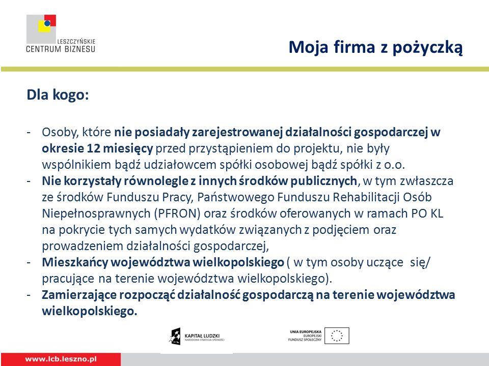 W projekcie przewidziano wsparcie: 48 os.z subregionu kaliskiego, 47 os.