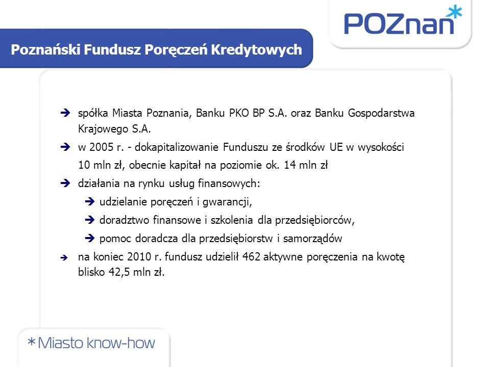 Poznański Fundusz Poręczeń Kredytowych  spółka Miasta Poznania, Banku PKO BP S.A. oraz Banku Gospodarstwa Krajowego S.A.  w 2005 r. - dokapitalizowa