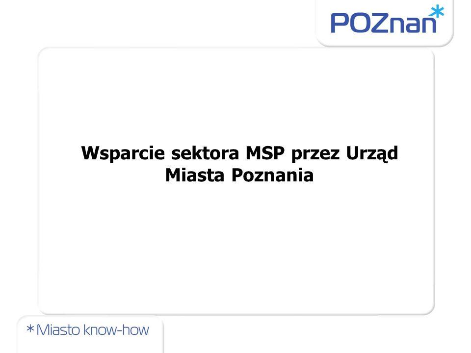 Wsparcie sektora MSP przez Urząd Miasta Poznania