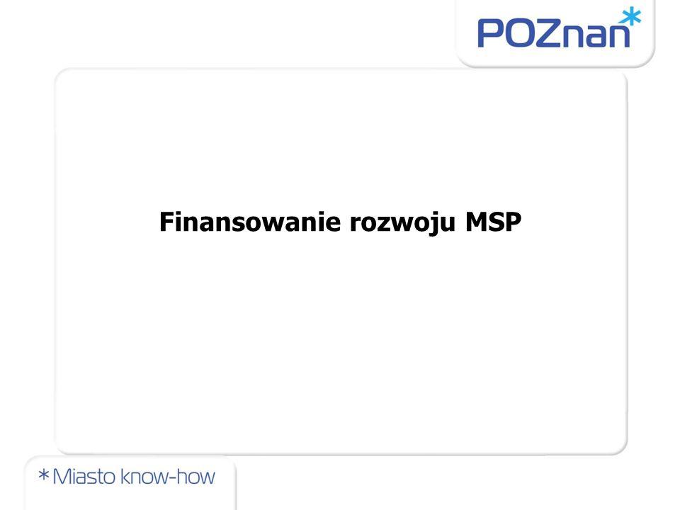 Finansowanie rozwoju MSP