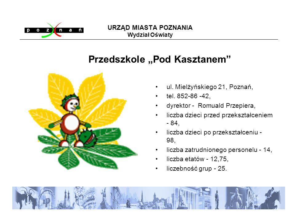 URZĄD MIASTA POZNANIA Wydział Oświaty ul. Mielżyńskiego 21, Poznań, tel.