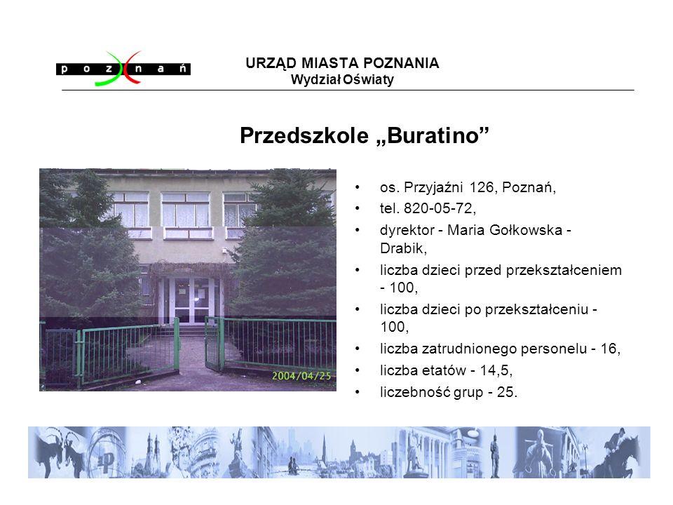 URZĄD MIASTA POZNANIA Wydział Oświaty os. Przyjaźni 126, Poznań, tel.