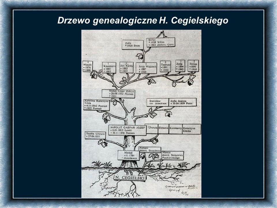 Drzewo genealogiczne H. Cegielskiego