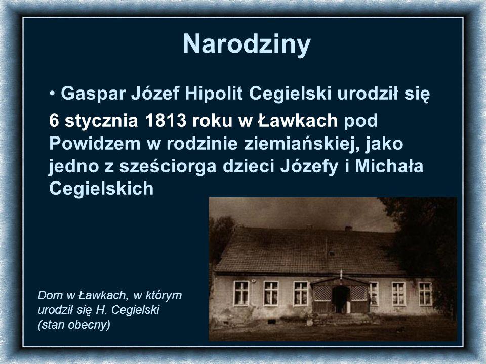 Życie rodzinne: 6 października 1841 roku, Hipolit Cegielski ożenił się z Walentyną Motty.