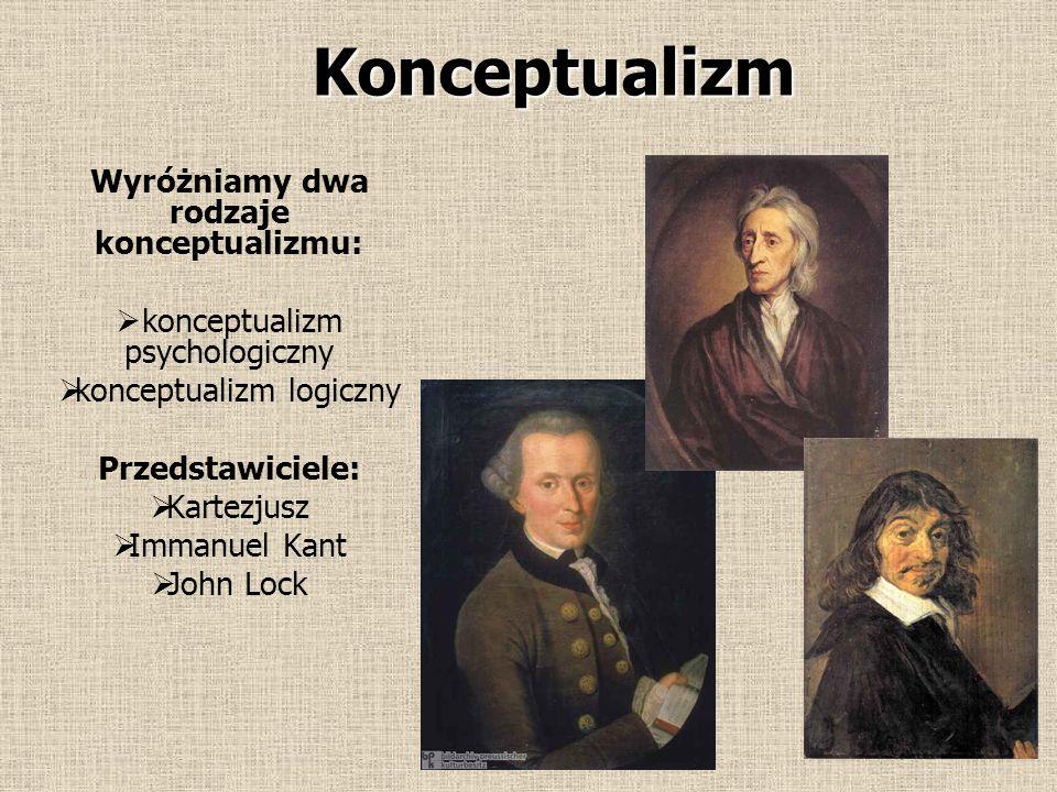 Konceptualizm ( łac. konceptus – pojęcie, wyobrażenie, myśl ) Konceptualizm, w sporze o uniwersalia, to stanowisko, które głosi że pojęcia ogólne istn