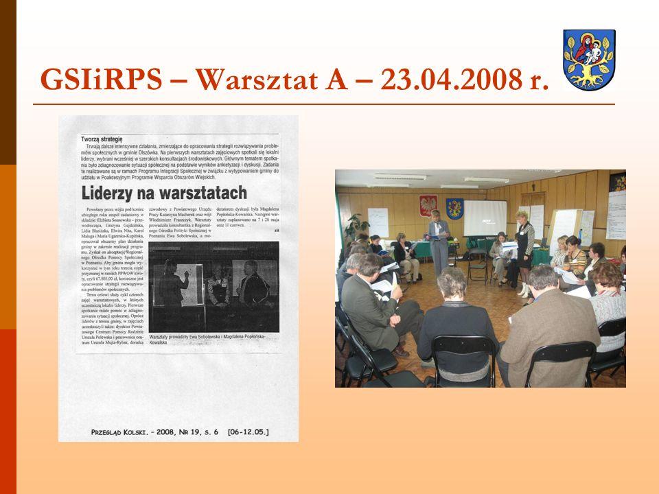 GSIiRPS – Warsztat A – 23.04.2008 r.