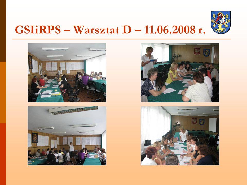 GSIiRPS – Warsztat D – 11.06.2008 r.