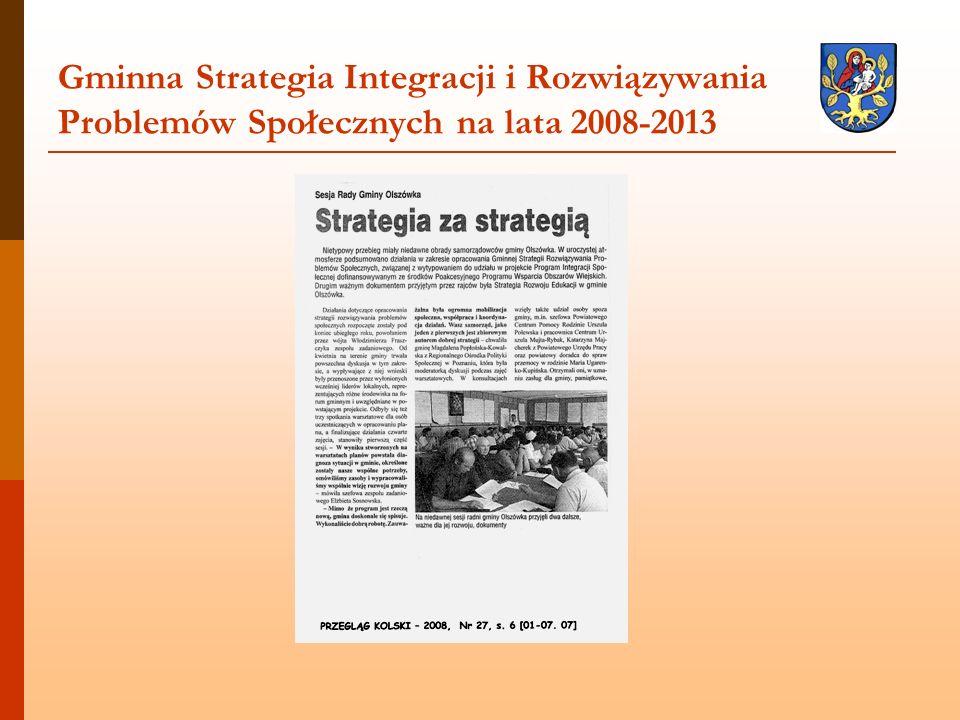 Gminna Strategia Integracji i Rozwiązywania Problemów Społecznych na lata 2008-2013
