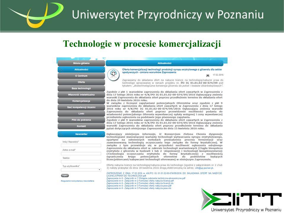 Technologie w procesie komercjalizacji