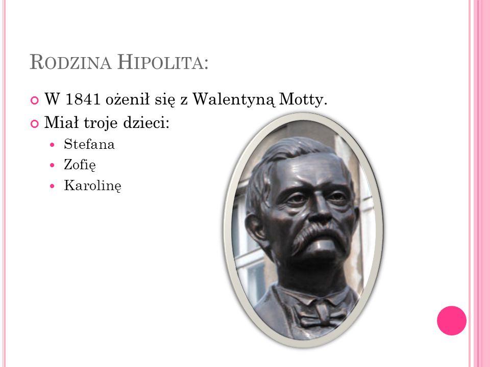 N AUKA : W latach 1827 – 1830 uczył się w Gimnazjum w Trzemesznie.