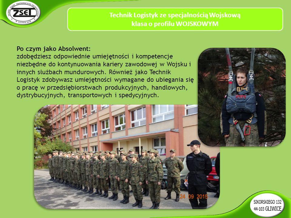 Po czym jako Absolwent: zdobędziesz odpowiednie umiejętności i kompetencje niezbędne do kontynuowania kariery zawodowej w Wojsku i innych służbach mundurowych.