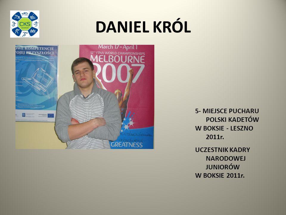 DANIEL KRÓL 5- MIEJSCE PUCHARU POLSKI KADETÓW W BOKSIE - LESZNO 2011r.